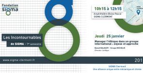Conférence Incontournables de SIGMA Clermont 25 janvier 2018