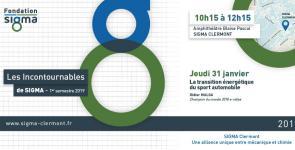Conférence Les Incontournables de SIGMA du 31 janvier 2019