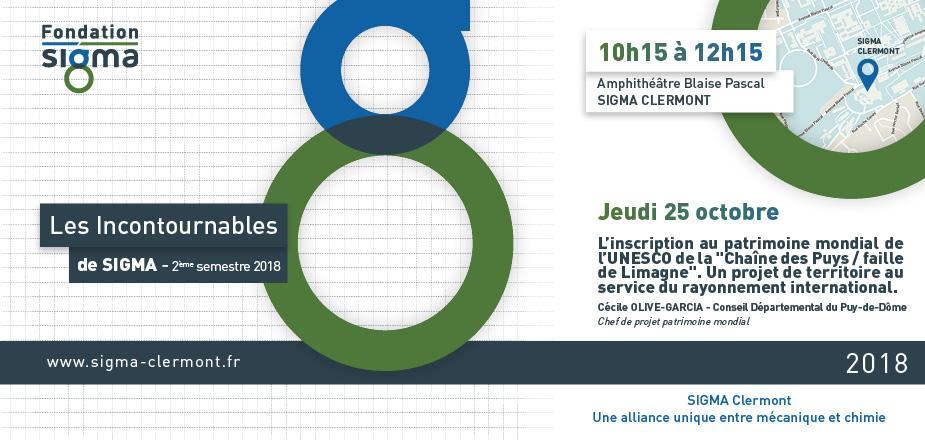 Conférence les Incontournables de SIGMA - 25 octobre 2018